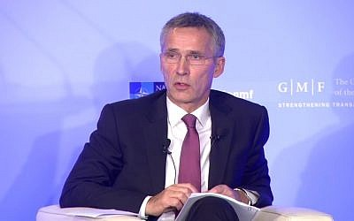 NATO head Jens Stoltenberg. (Screen capture: YouTube)