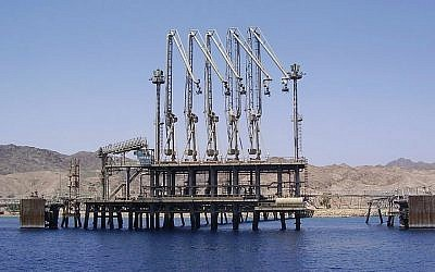 An Eilat Ashkelon Pipeline Company oil terminal in Eilat (CC BY 2.5/Pikiwikisrael)