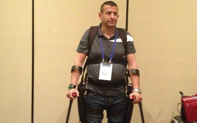 Radi Kauf wearing his ReWalk system (Photo credit: Courtesy)