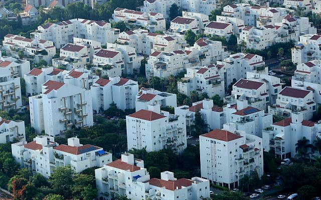An aerial view of Ra'anana, a city in central Israel. (photo credit: Flash90/Moshe Shai)