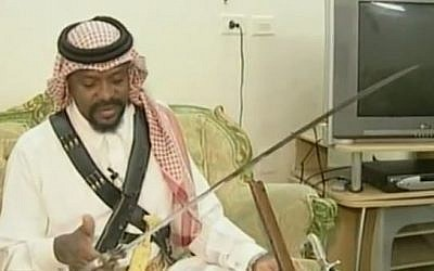 Illustrative: A Saudi executioner displays his sword. (YouTube/MEMRITVVideos)