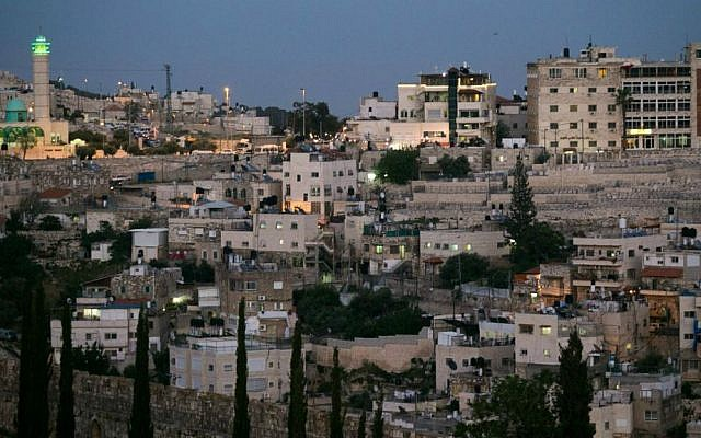 View of the East Jerusalem neighborhood of Silwan near Jerusalem's Old City, on April 29, 2015. (Photo credit: Nati Shohat/FLASH90)