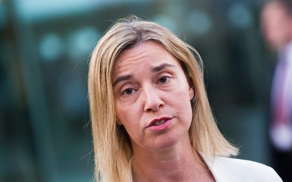 EU Foreign Policy Chief Federica Mogherini addresses the media on the nuclear talks in Vienna, Austria, June 28, 2015. (AFP/Christian Bruna)