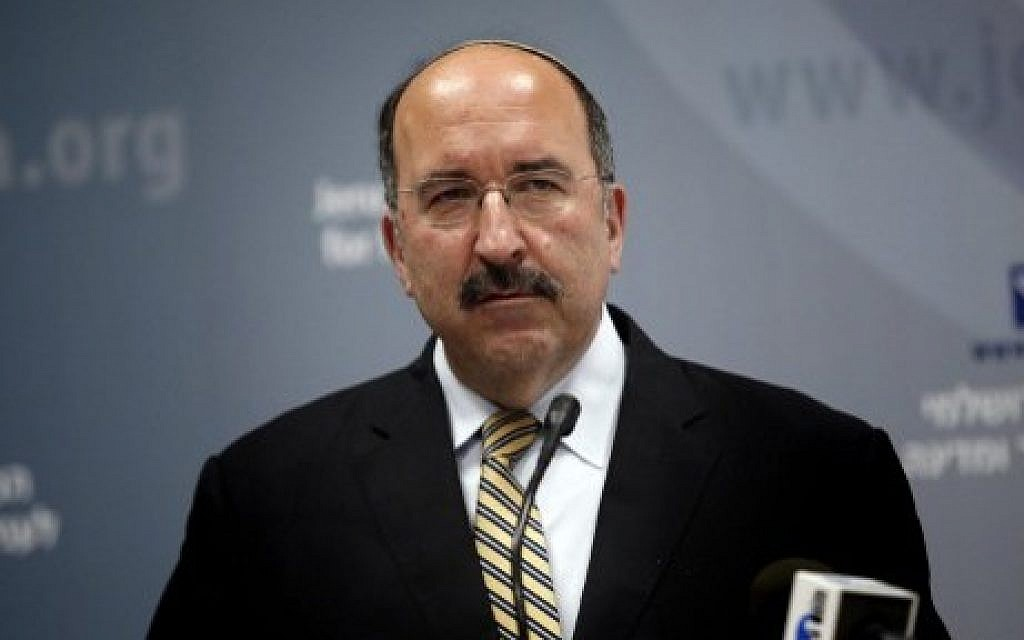 Foreign Ministry Director General Dore Gold in Jerusalem, June 1, 2015. (AFP/Thomas Coex)