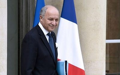 French foreign minister Laurent Fabius leaving the Elysee Palace in Paris, France, June 24, 2015. (AFP/Dominique Faget)