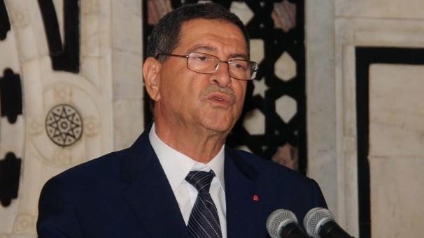Tunisian Prime Minister Habib Essid speaks at a press conference in Tunis on June 26, 2015 (Salah Habibi/AFP)