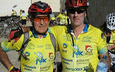 Betzalel Zielinski of Rishon Lezion, Israel (right) will participate in the Ride for the Living with his father, Holocaust survivor Marcel Zielinski of Montreal, Canada. (Courtesy)