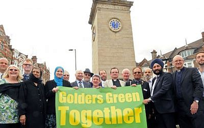 A pre-rally response, 'Golders Green Together,' is still due to take place on Friday, July 3. This campaign has been led by the anti-racist organization Hope Not Hate, the London Jewish Forum and the Board of Deputies and enlisted the support of local Christians and Muslims. (courtesy)