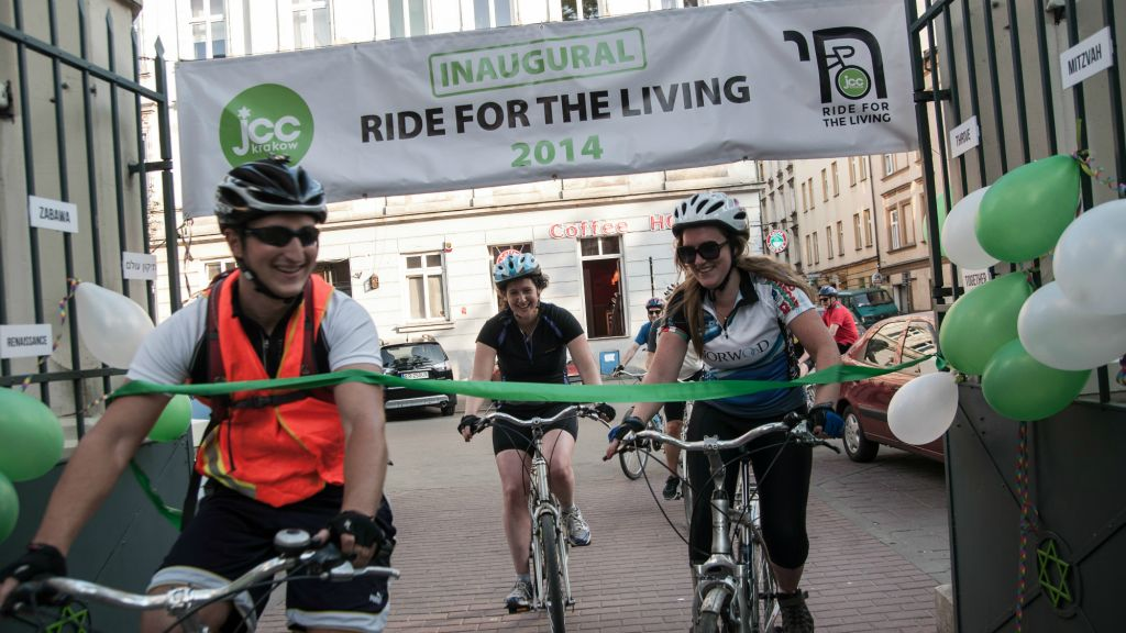 Robert Desmond (left) at the finish line of the Ride for the Living in 7f983138a