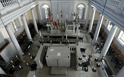 The historic Touro Synagogue in Newport, Rhode Island, 2005 (AP/Joe Giblin)