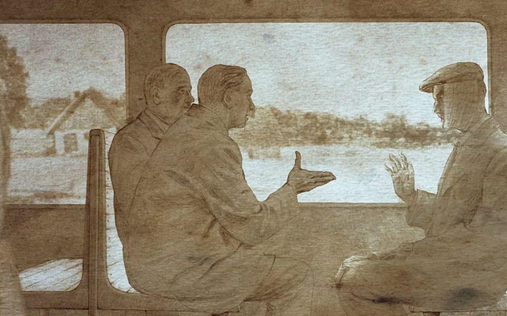 Animation drawing from 'Karski & The Lords of Humanity' by Tomasz Niedzwiedz. (Courtesy)