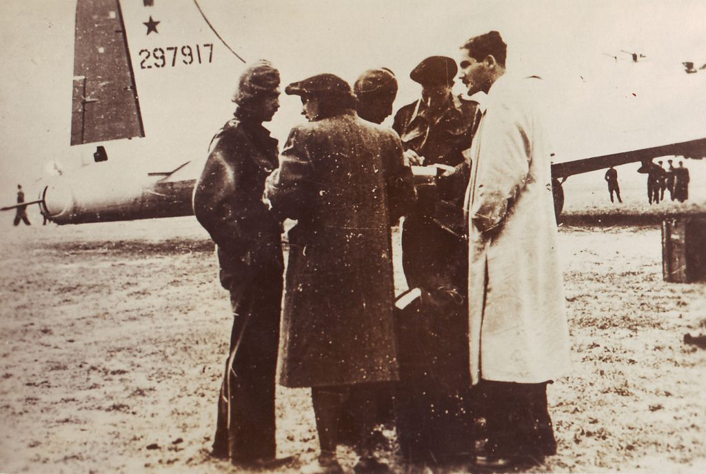 Haviva Reick at a WWII airfield. (courtesy Return to the Burning House)