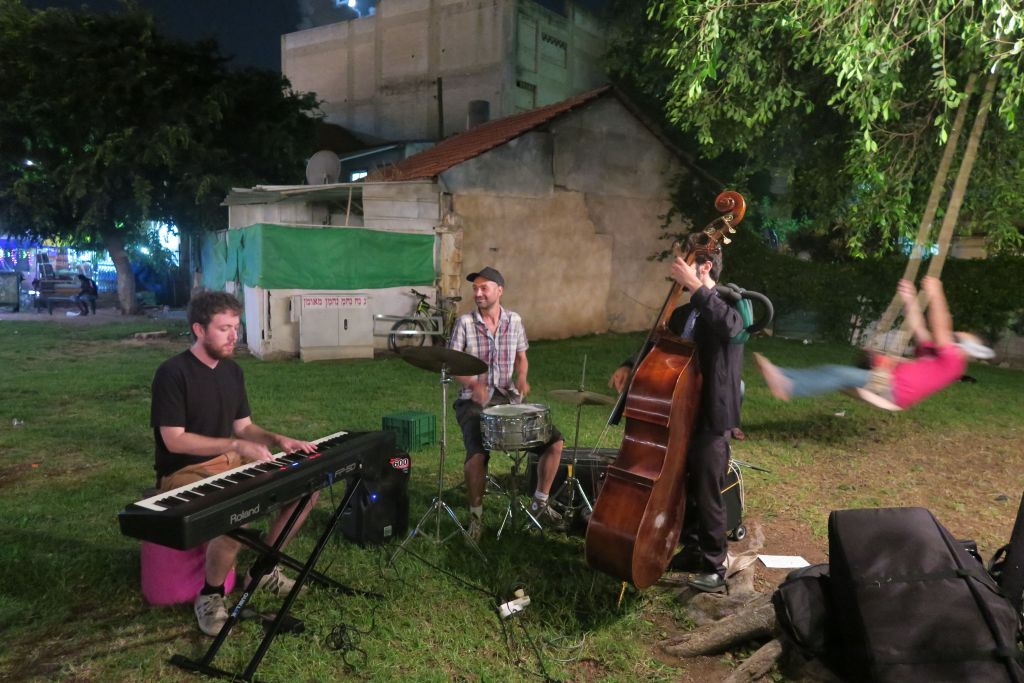 Listening to some jazz at the PopUp Park, part of the White City events last week (Courtesy Brandon Berry)
