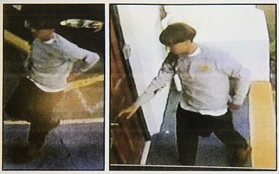 Images on a flier provided to media on June 18, 2015, by the Charleston Police Department show surveillance footage of a suspect wanted in connection with a shooting Wednesday at Emanuel AME Church in Charleston, South Carolina. (Courtesy of Charleston Police Department via AP)