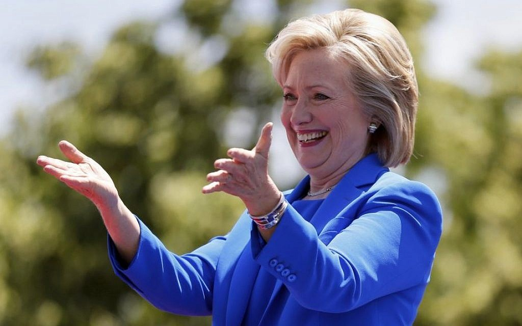 hillary clinton an honorary member of the tribe the times of israel