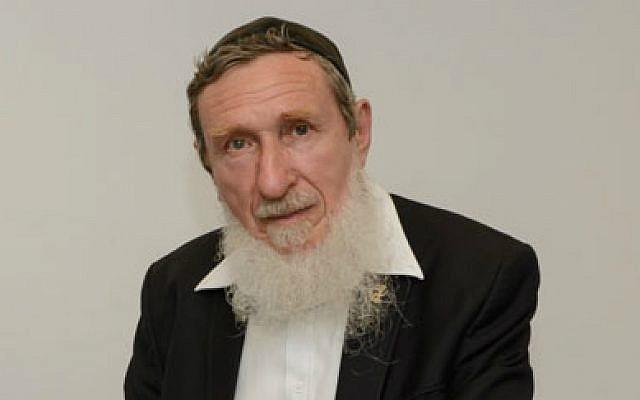 Rabbi Professor Daniel Sperber at the June 9, 2015, ordination celebration of the first cohort for Har'el Beit Midrash. (Sigal Krimolovski)
