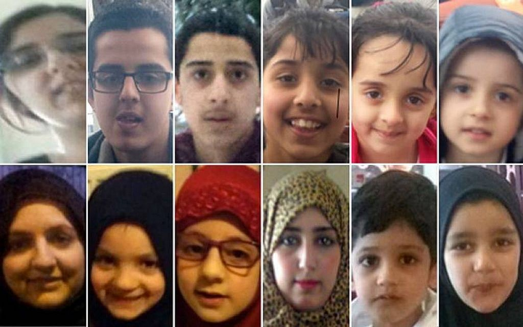 UK police seek 3 sisters, 9 kids feared traveling to Syria