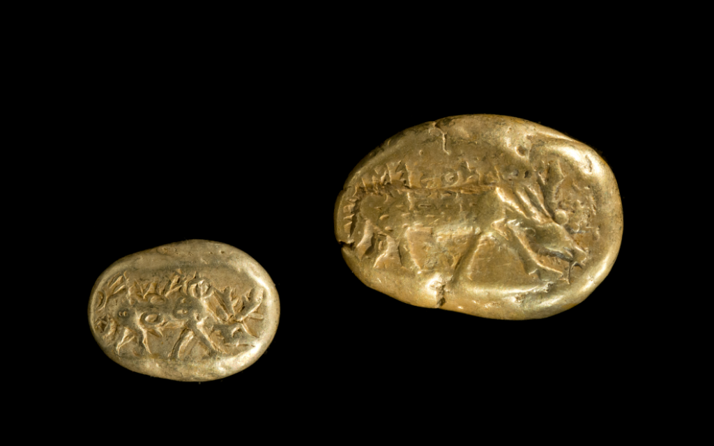 Phanes series of early electrum coins, usually attributed to Ephesus and dated to circa 620 BCE (Courtesy Israel Museum)