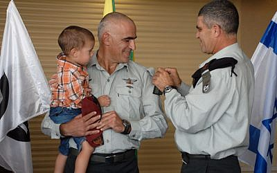 A ceremony held in honor of the Brigadier-General Yossi Bachar's appointment as the new commander of the Israeli Defense Force's Gaza Division. Bachar is November 11, 2010. (IDF Spokesperson/FLASH90)