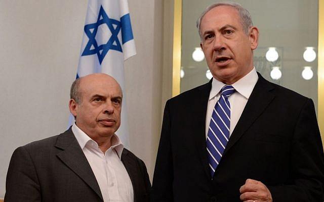 Prime Minister Benjamin Netanyahu seen with the head of the Jewish Agency Natan Sharansky. (Kobi Gideon/GPO/FLASH90)