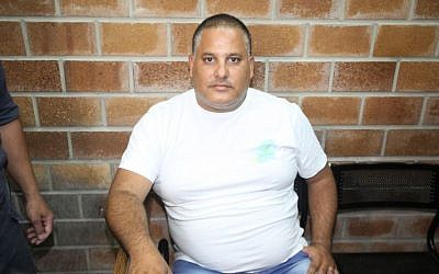 Former union boss at Ashdod port, Alon Hassan, in the Magistrate's COurt in Kfar Saba, June 02, 2014. (FLASH90)