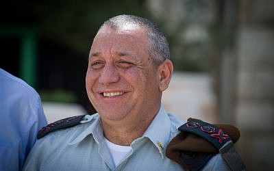 IDF chief of staff Gadi Eisenkot at a ceremony in Jerusalem, on March 25, 2015. (Miriam Alster/FLASH90)