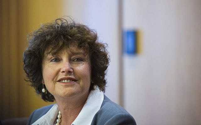 Bank of Israel Governor Karnit Flug speaks during a press conference in Jerusalem on March 31, 2015. (Yonatan Sindel/Flash90)