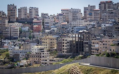 The Shuafat refugee camp in East Jerusalem. (Miriam Alster/Flash90)