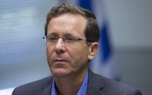 File: Opposition leader Isaac Herzog on June 1, 2015. (Yonatan Sindel/Flash90)