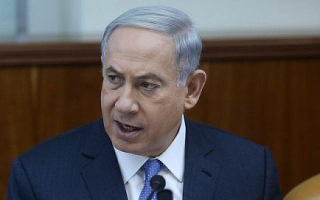 Prime Minister Benjamin Netanyahu on June 7, 2015 (Amit Shabi/pool/Flash90)