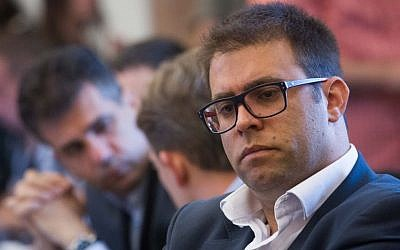 Likud MK Oren Hazan attends a Knesset Finance Committee meeting on June 8, 2015. (Miriam Alster/FLASH90)