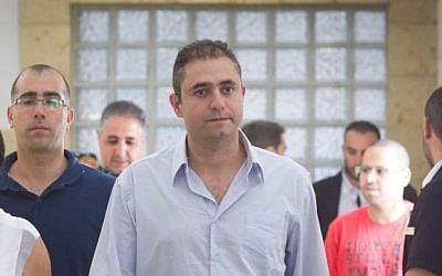 File: Eran Malka at the Jerusalem District Court on June 10, 2015. (Miriam Alster/Flash90)