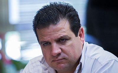 Leader of the Joint (Arab) List Ayman Odeh (Yonatan Sindel/Flash90)