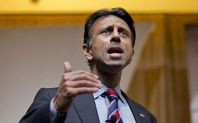 In this June 19, 2015, file photo, Louisiana Gov. Bobby Jindal speaks at the Road to Majority 2015 convention in Washington. (AP/Pablo Martinez Monsivais, File)