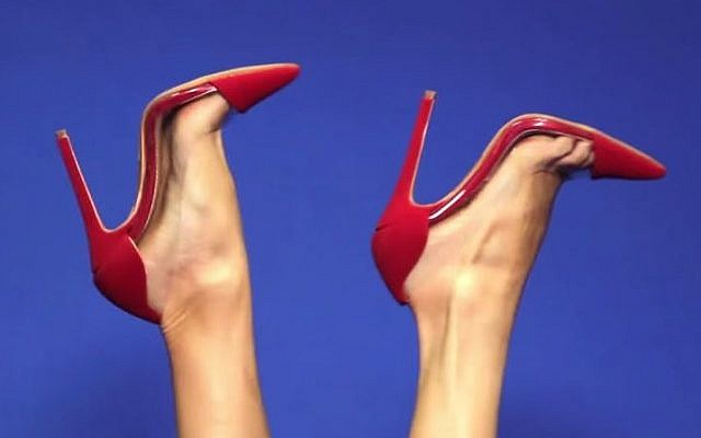 f9a28f99ef1 Illustrative photo of heeled shoes. (YouTube AMIClubwear)