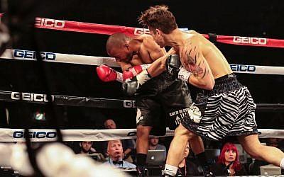 Dustin Fleischer in a recent pro boxing tournament. (EMS Photography Studios)