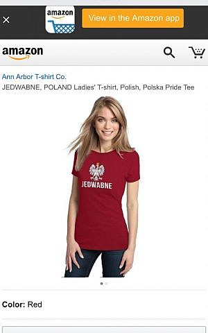 The Jedwabne Polska Pride shirt is no longer available. (screenshot)