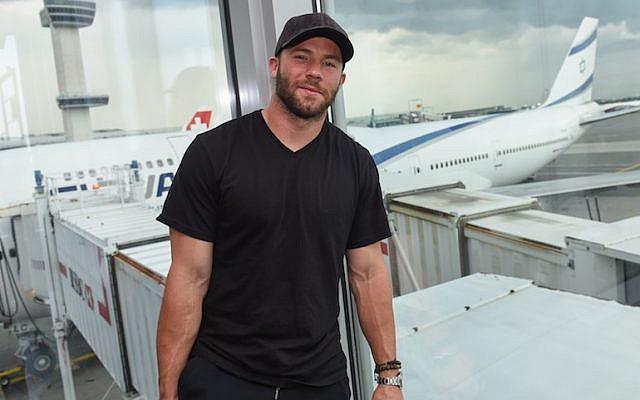 Julian Edelman will fly on El Al's new service from Tel Aviv to Boston's Logan International Airport. (JTA/Shahar Azran)