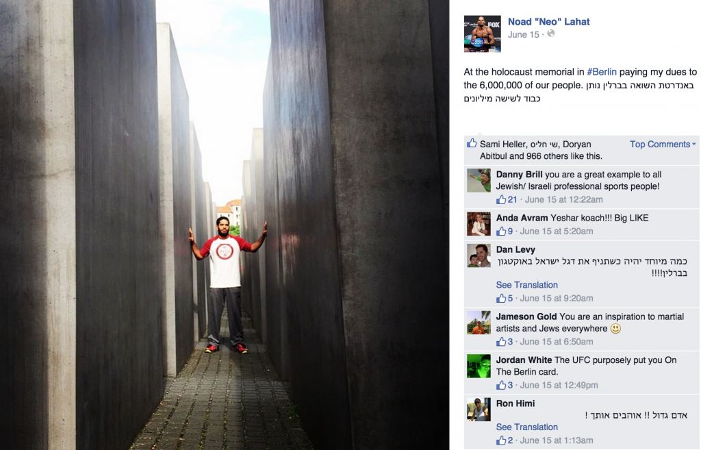 Noad Lahat touring Berlin during his visit to the German city before Saturday night's MMA fight (Courtesy Noad Lahat Facebook page)