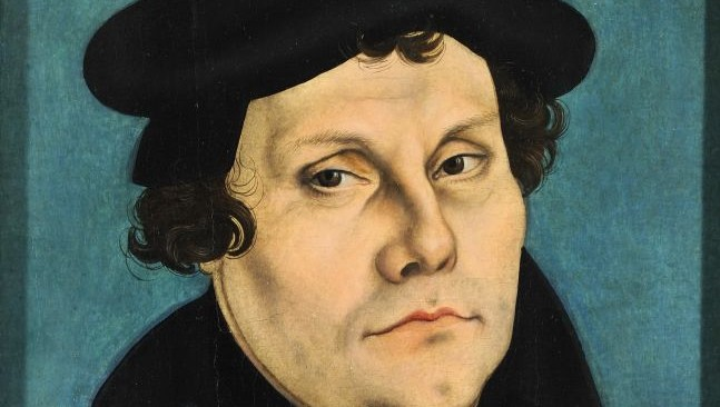 Portrait of Martin Luther painted by Lucas Cranach the Elder in 1528 Public Domain)