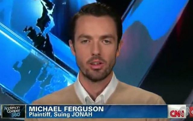 Michael Fergueson, one of the plaintiffs who sued the Jews Offering New Alternatives for Healing organization over its methods for trying to aligning sexual orientation. (YouTube/CNN)