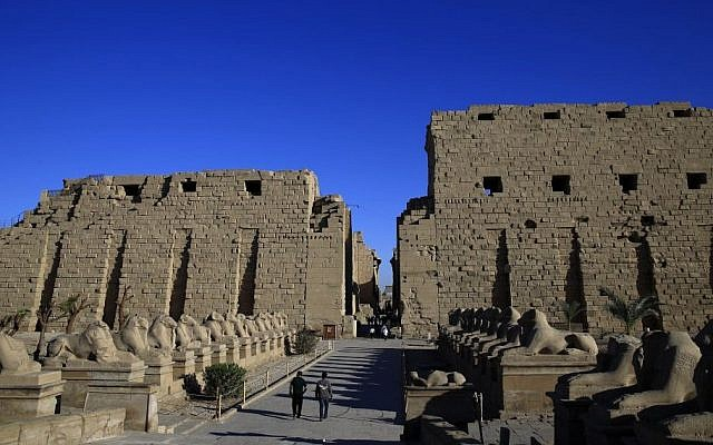 Illustrative: the ancient ruins of the Karnak Temple in Luxor, Egypt, November 30, 2014. (AP/Hassan Ammar)