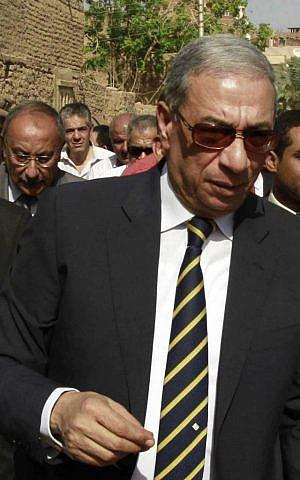Egyptian state prosecutor Hisham Barakat, on April 8, 2014 (AP Photo/Sabry Khaled, El Shorouk Newspaper)