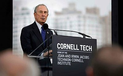 Former New York City Mayor Michael Bloomberg speaks during a ground breaking ceremony for Cornell Tech on Roosevelt Island in New York, Tuesday, June 16, 2015 (AP Photo/Seth Wenig)