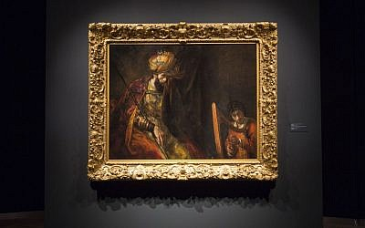 This photo provided Tuesday, June 9, 2015, by Mauritshuis shows Rembrandt's 'Saul and David' after restoration. (Ivo Hoekstra/Mauritshuis via AP)