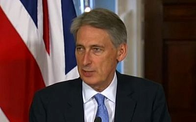British Foreign Secretary Philip Hammond (YouTube/US Department of State)