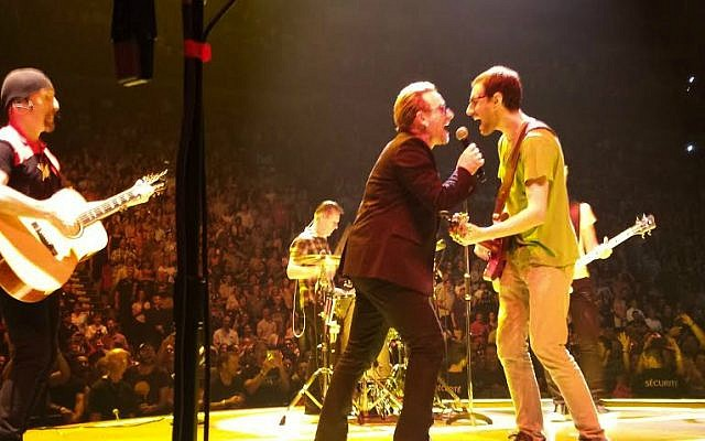 Ryan Luxenberg (right) rocks out with U2 in Montreal on June 16, 2015. (Courtesy)