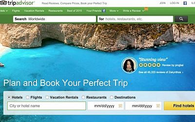 TripAdvisor is now arguably the largest travel site in the world. (Screenshot)
