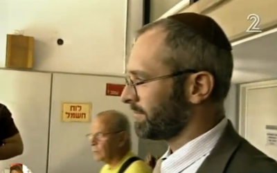 Yehoshua Elitzur during his initial trial (screen capture: Channel 2)