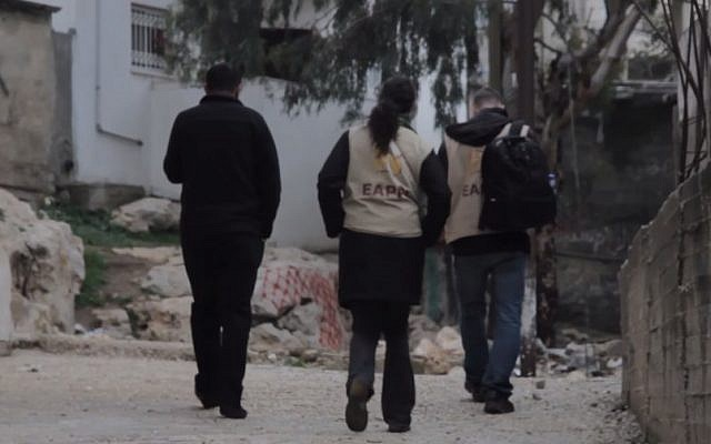 Activists of the World Council of Churches in the West Bank (YouTube screen capture)